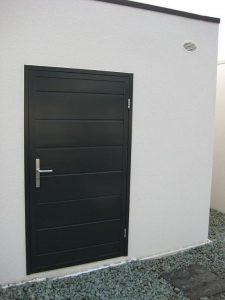porte-de-service-noir-stratifié-isolante