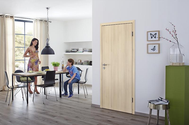 Porte interieure cuisine famille - Isolation thermique porte interieure ...