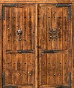 Porte en bois massif les avantages d un bon investissement - Puertas de madera exterior rusticas ...