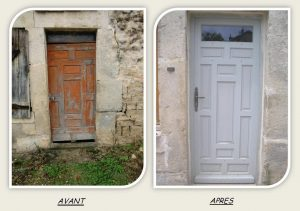 renovation porte bois